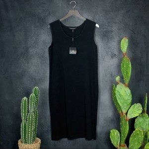 🆕Ming Wang Black Side Slit Sheath Dress Large
